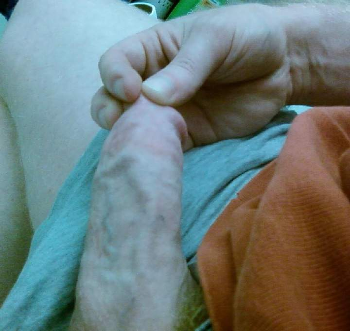 Really big veins keep my shaft as hard as a steel pipe