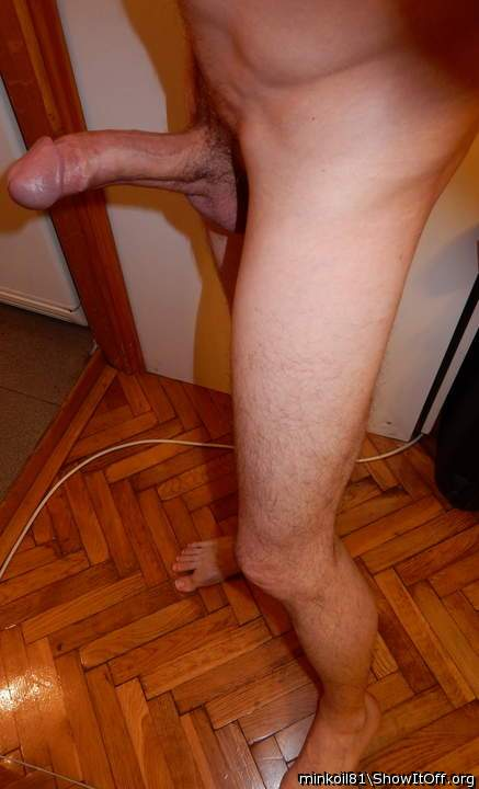 Erect cock and legs