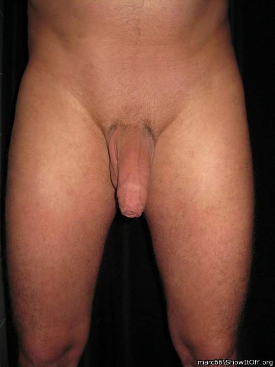 flaccid and shaved (or trimmed)